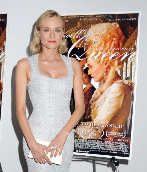 """Diane Kruger lors de la première du film """"Les Adieux à la reine"""" à New York, le 9 juillet 2012."""