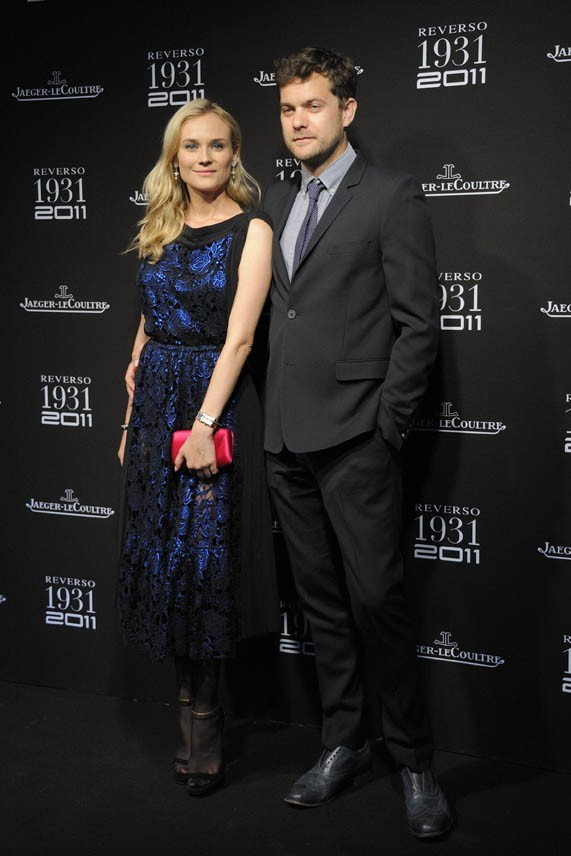 Diane Kruger et Joshua Jackson lors des 80 ans de la montre Reverso de l'horloger Jaeger-Lecoultre à Paris, le 28 juin 2011.