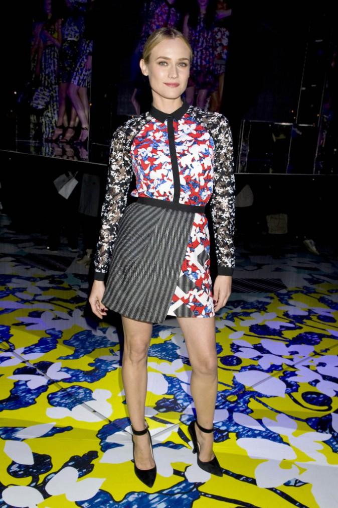 Diane Kruger lors de la soirée de lancement de la collection Peter Pilotto for Target à New York, le 6 février 2014.