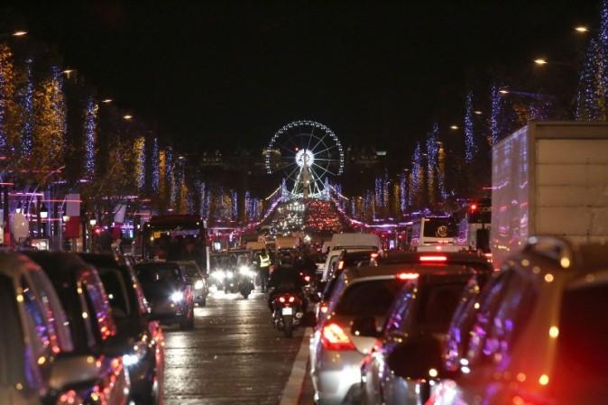 Les illuminations des Champes Elysées le 21 novembre 2012 à Paris