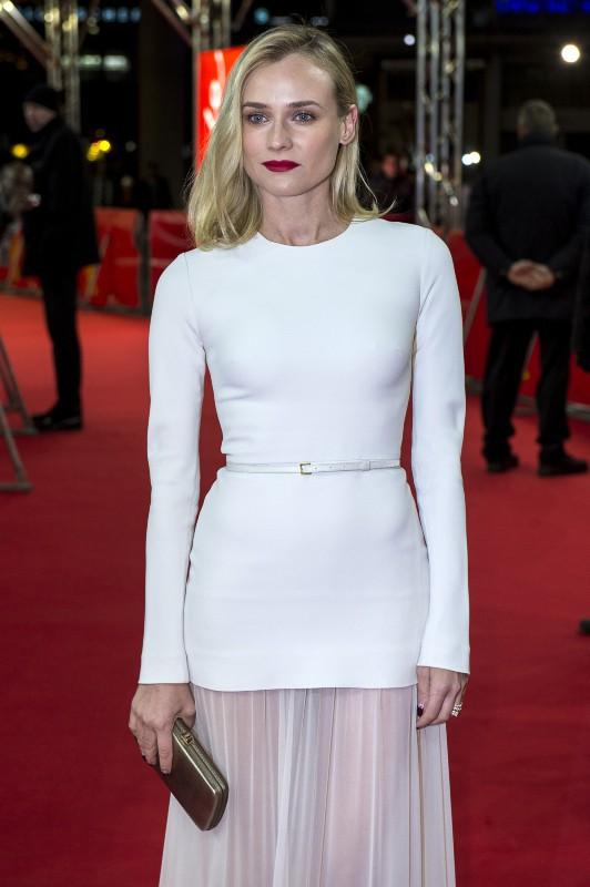 """Diane Kruger lors la première du film """"The Better Angels"""" à Berlin, le 10 février 2014."""