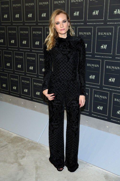 Diane Kruger au défilé Balmain x H&M à New York, le 20 octobre 2015