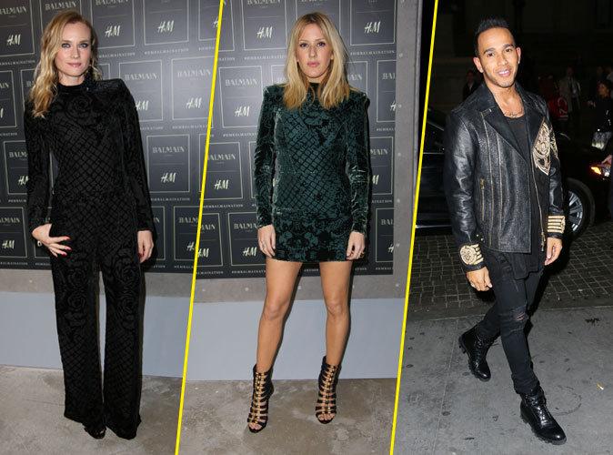 Diane Kruger, Ellie Goulding, Lewis Hamilton... Balmain x H&M attire les foules !