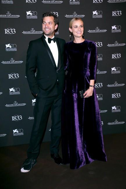 Diane Kruger et Joshua Jackson lors de la soirée Jaeger-LeCoultre à Venise, le 2 septembre 2013.