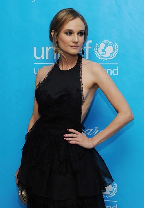 Diane Kruger au bal de l'Unicef hier à Los Angeles