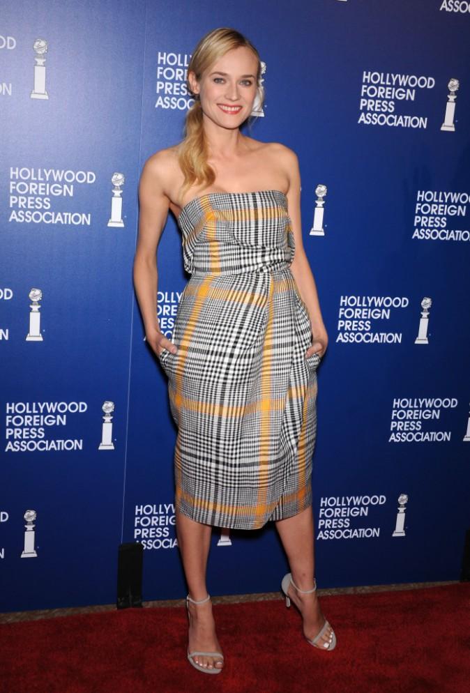 """Diane Kruger lors de la soirée """"Hollywood Foreign Press Association Installation Luncheon"""" à Los Angeles, le 13 août 2013."""