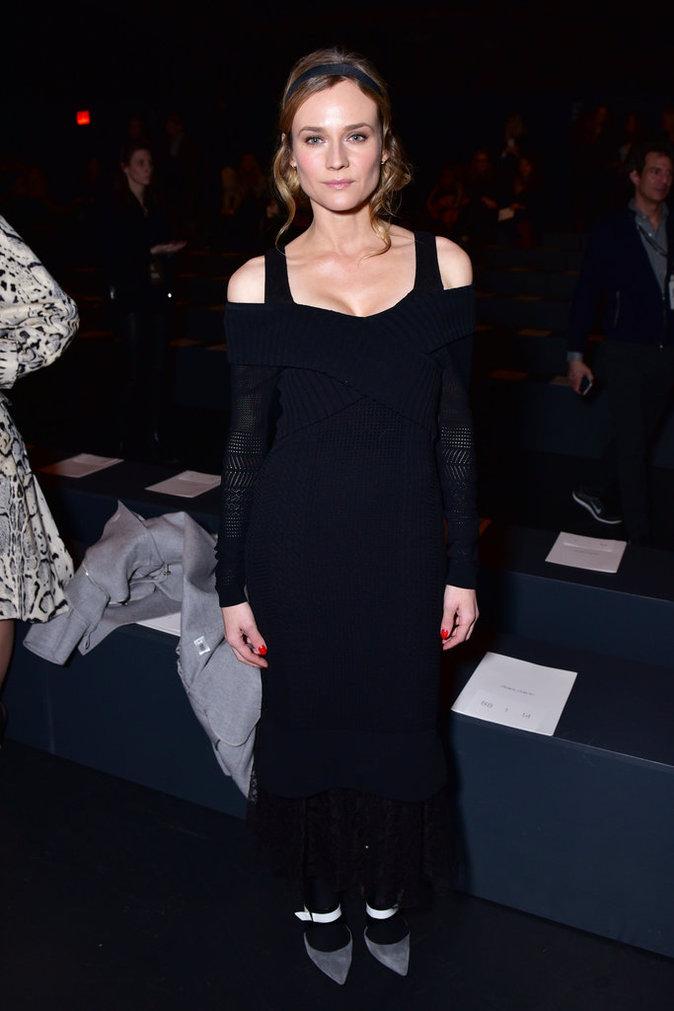 Diane Kruger, simple et élégante au défilé