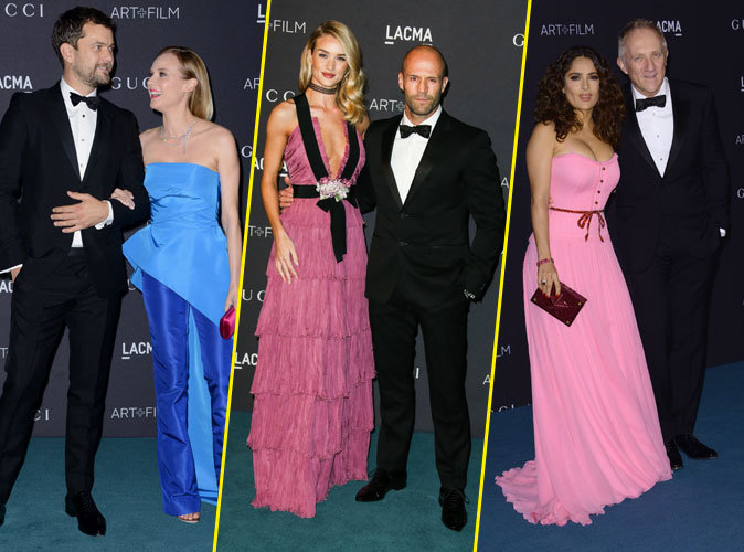Diane Kruger, Rosie Huntington-Whiteley, Salma Hayek... Lâché de stars au LACMA  !