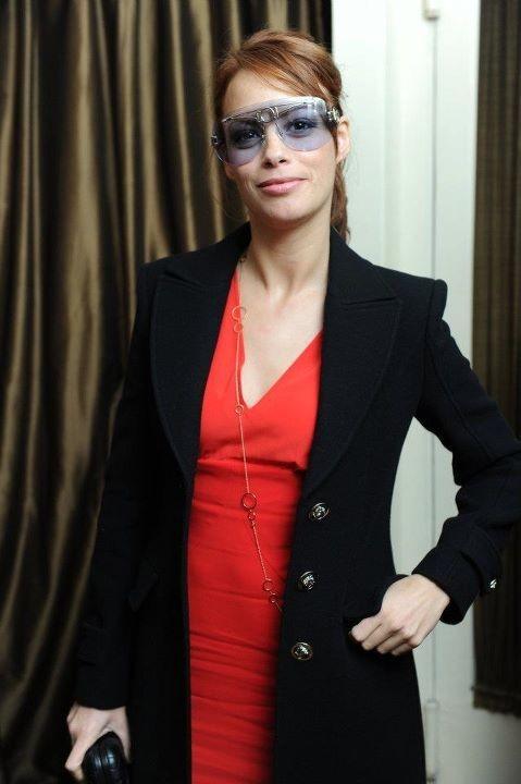 Bérénice Béjo lors du dîner Versace Eyewear à Paris, le 23 janvier 2012.