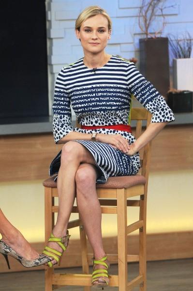 Diane Kruger sur le plateau de Good Morning America à New York, le 28 mars 2013.