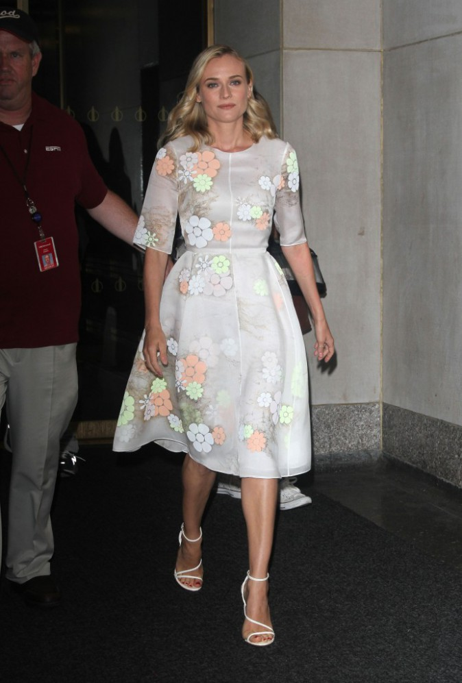 Diane Kruger lors de sa venue au Sirius SM Studio de Manhattan le mardi 15 juillet.