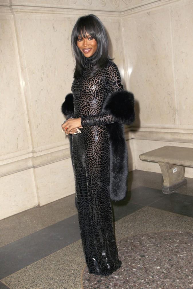 Naomi Campbell à New York le 20 novembre 2014