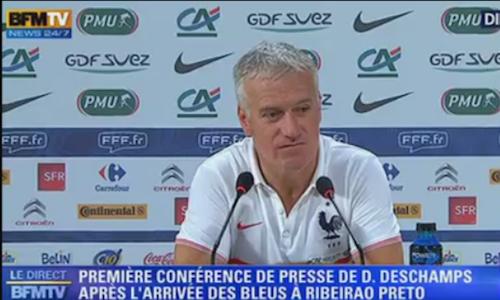 """Photos : Didier Deschamps : """"Les Bleus sont heureux, contents, fiers d'être là"""" !"""