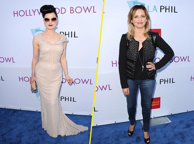 Dita Von Teese et Sarah Michelle Gellar à Los Angeles le 21 juin 2014