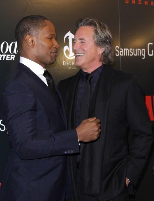 Don Johnson et Jamie Foxx le 11 décembre 2012 à New York