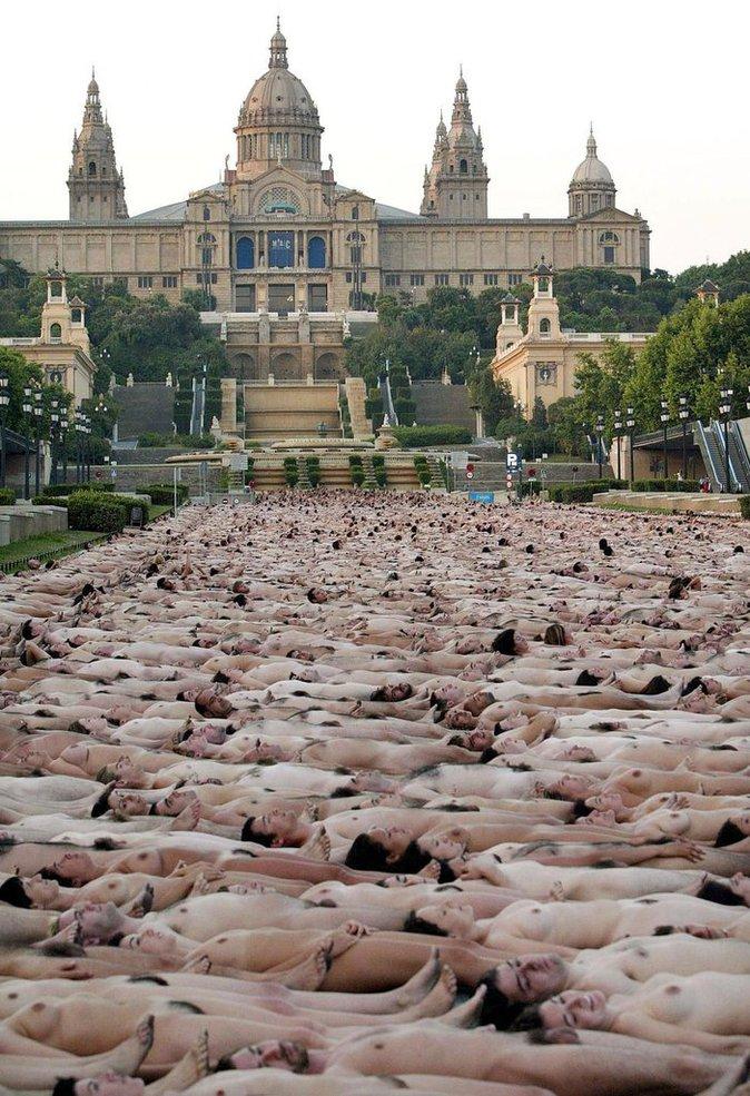 Avenue Maria Cristina, Barcelone, Espagne, le 8 juin 2003