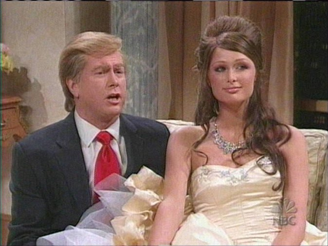 "Paris Hilton et un sosie de Donald Trump dans l'émission de parodies ""Saturday Night Live"""