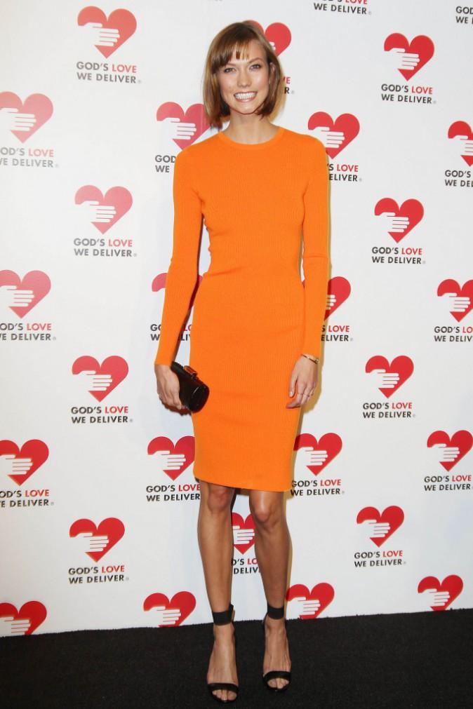"""Karlie Kloss lors de la soirée """"God's Love We Deliver Golden Heart Awards"""" à New York, le 16 octobre 2013."""