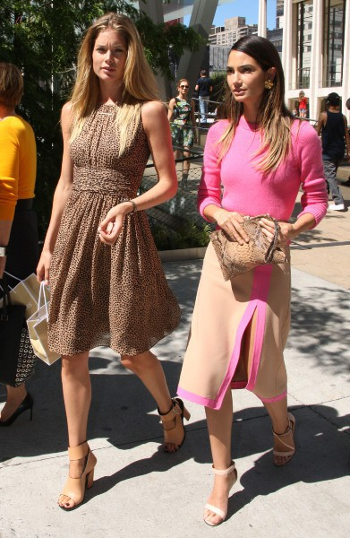 Doutzen Kroes et Lily Aldridge à New York, le 4 septembre 2013.