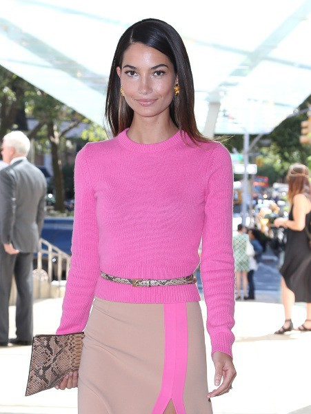 Lily Aldridge à New York, le 4 septembre 2013.
