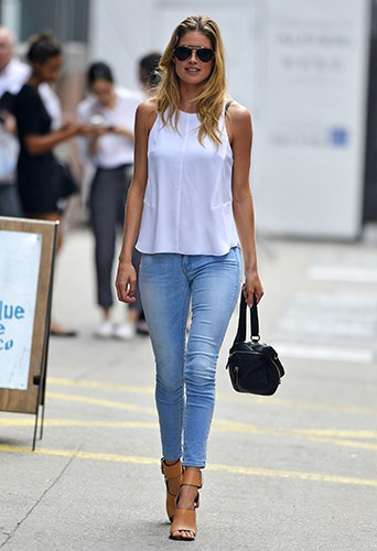 Doutzen Kroes à New-York le 9 juillet 2013