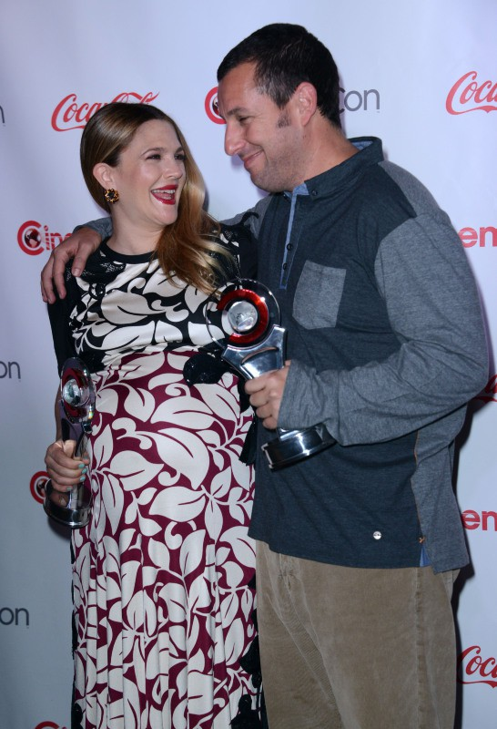Drew Barrymore et Adam Sandler lors du CinemaCon Big Screen Achievement Awards à Las Vegas, le 27 mars 2014.
