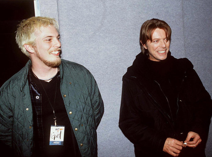 Duncan Jones avec son père David Bowie en 1999