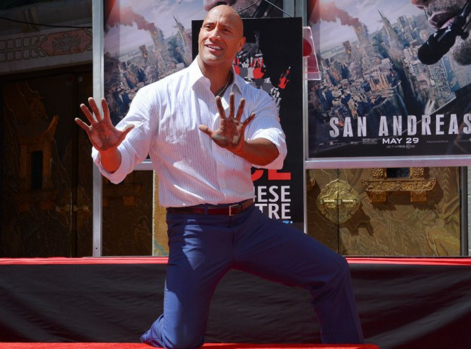 Dwayne Johnson à Hollywood le 19 mai 2015