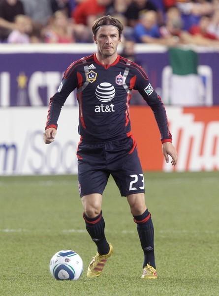 David Beckham lors du match de foot qui opposait les MLS All Stars à Manchester United, à Harrison dans le New Jersey, le 27 juillet 2011.