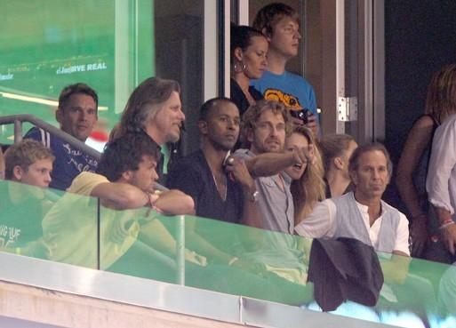 Gerard Butler lors du match de foot qui opposait les MLS All Stars à Manchester United, à Harrison dans le New Jersey, le 27 juillet 2011.