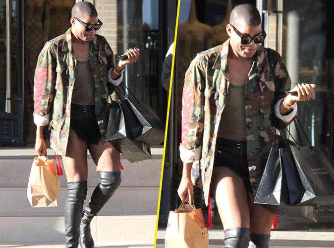 EJ Johnson : slip moulant et bottes de cuir il dévalise les boutiques à Beverly Hills