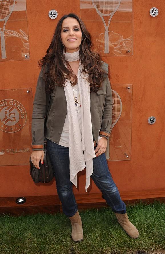 Elisa Tovati à Roland Garros le 5 juin 2012