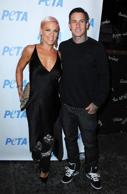 Pink et son mari Carey Hart
