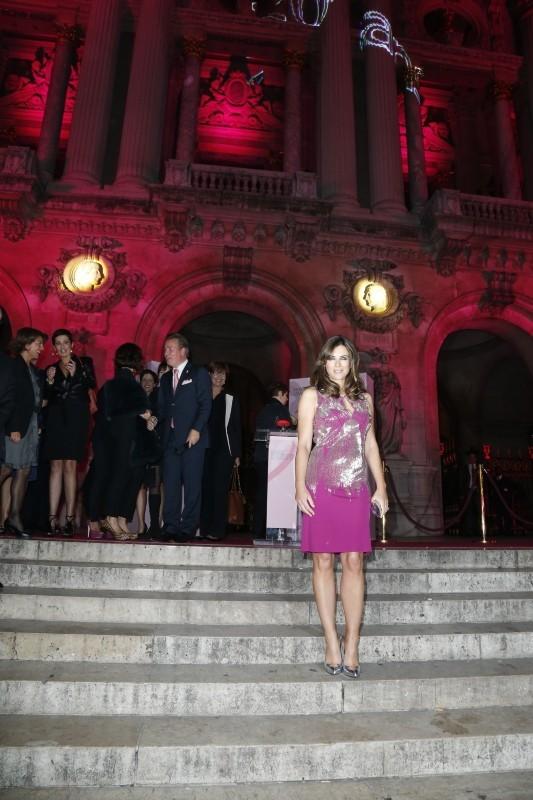 Elizabeth Hurley le 10 octobre 2012 à Paris