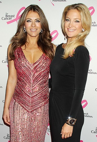 Elizabeth Hurley et Kate Hudson à New-York le 17 avril 2013