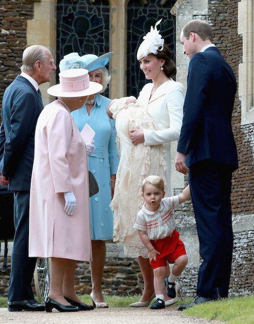 Le baptême de la princesse Charlotte en juillet 2015