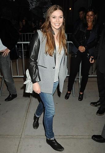 Elizabeth Olsen à New-York le 8 avril 2013