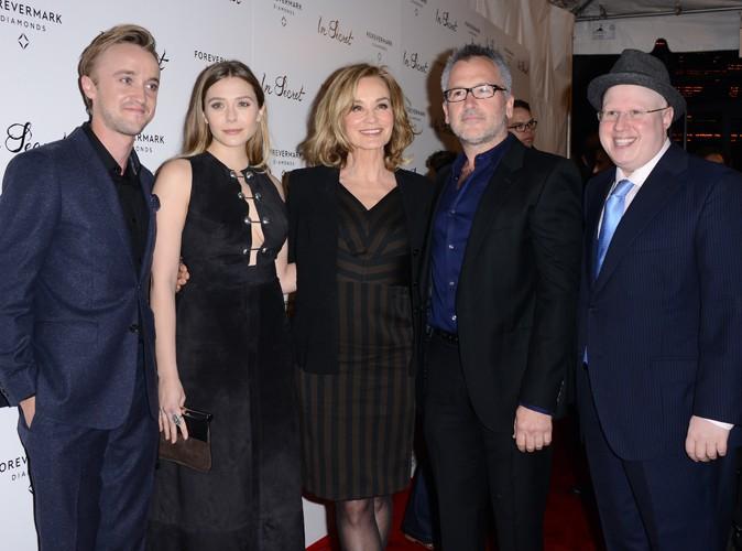Tom Felton, Elizabeth Olsen, Jessica Lange, Charlie Stratton et Matt Lucas à Los Angeles le 6 février 2014