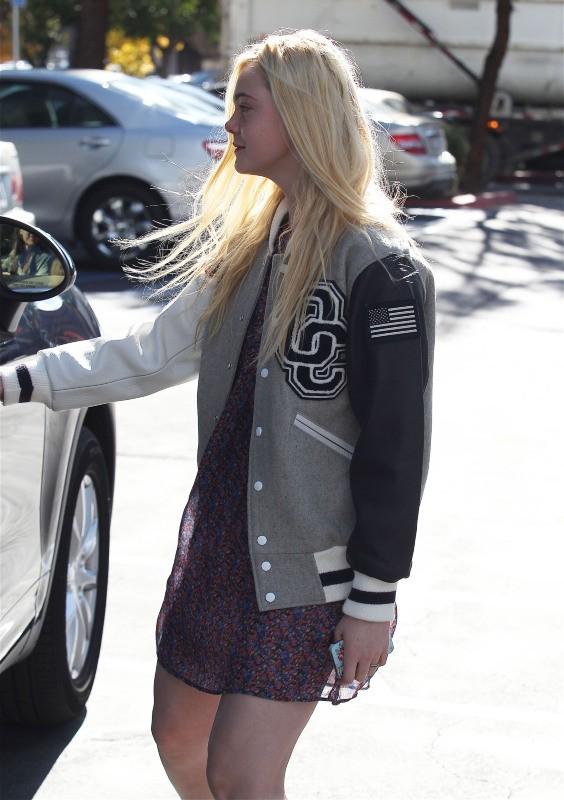 Elle Fanning, Californie, 26 décembre 2012.