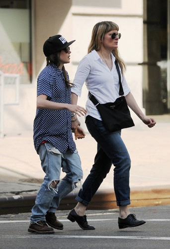 Ellen Page à New York le 12 mai 2014