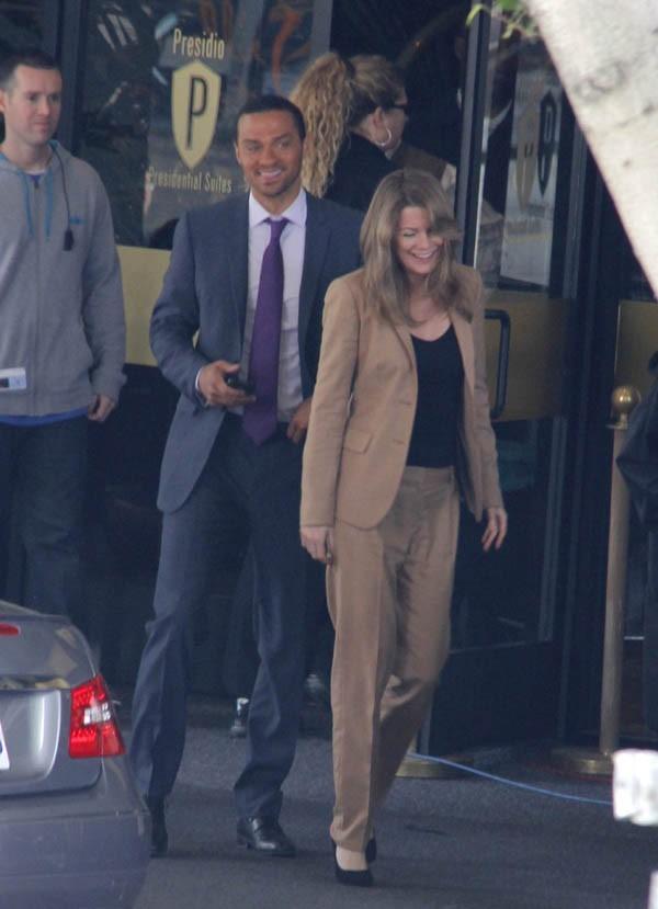 Jesse Williams et Ellen Pompeo de bonne humeur sur le tournage de Grey's Anatomy !