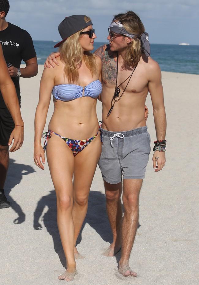 Ellie Goulding à Miami le 5 janvier 2015