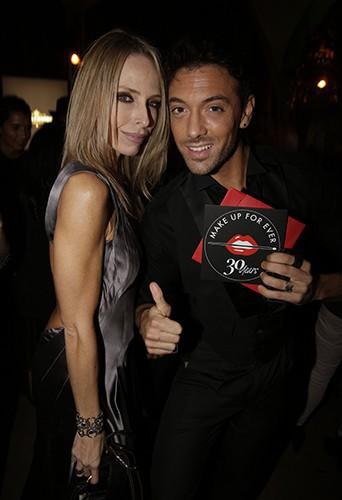 Tonya Kinzinger et Maxime Dereymez à Paris le 24 septembre 2014