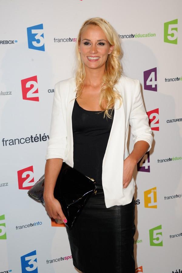 Elodie Gossuin à la conférence de presse de rentrée de France Télévision organisée à Paris le 26 août 2014