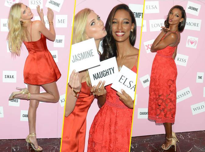 Photos : Elsa Hosk et Jasmine Tookes : sexy et souriante pour la Saint-Valentin de Victoria's Secret