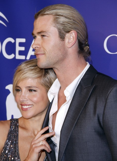 Elsa Pataky et Chris Hemsworth lors de la soirée Oceana Ball à New York, le 8 avril 2013.