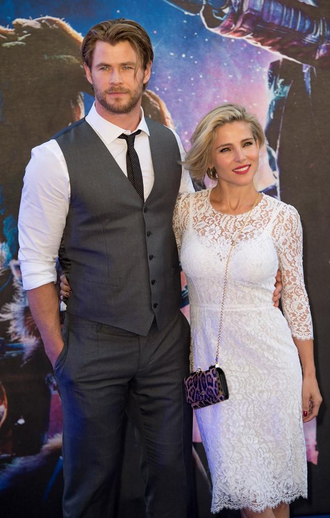 Elsa Pataky et Chris Hemsworth à l'avant-première londonienne des Gardiens de la Galaxie le 24 juillet 2014
