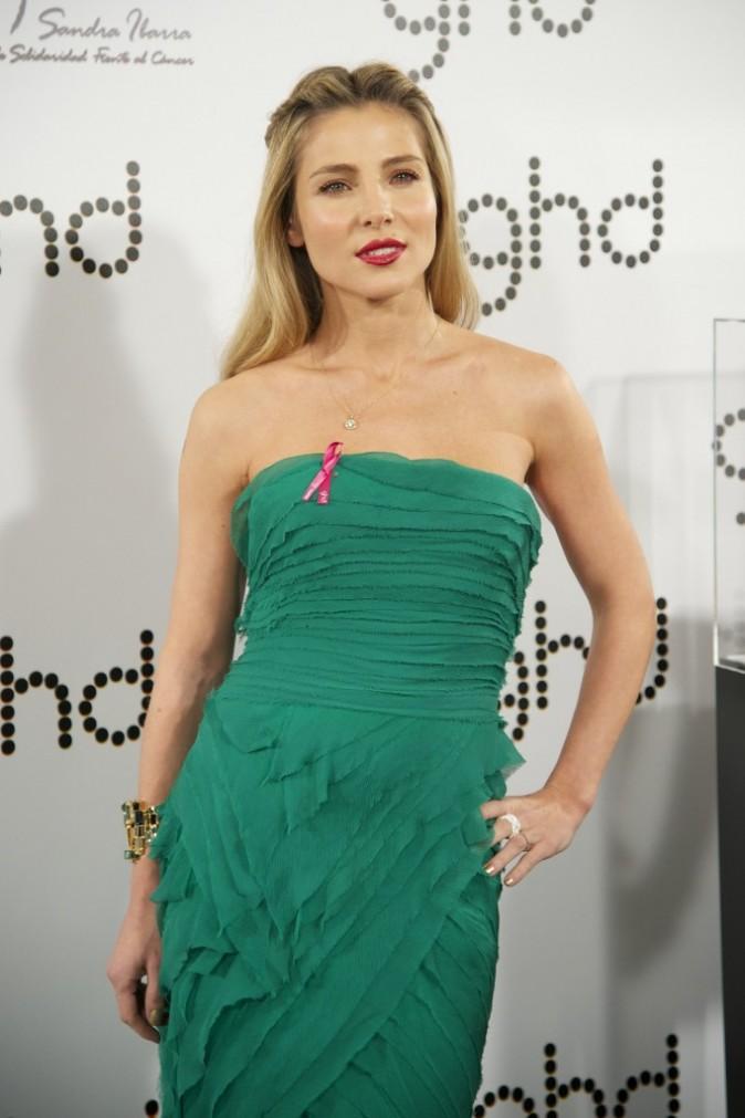 """Elsa Pataky lors de la soirée """"GHD Pink Proyect charity dinner"""" à Madrid, le 28 novembre 2012."""