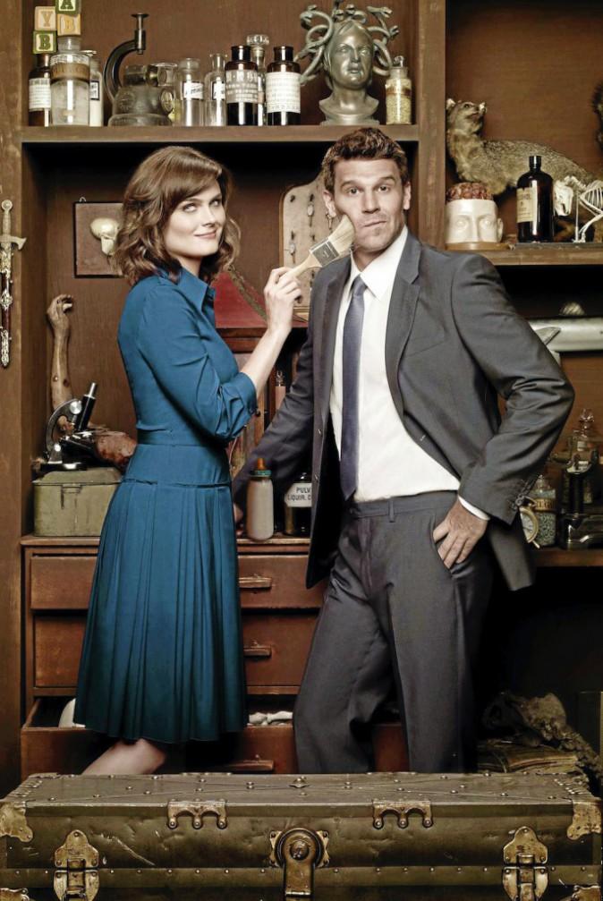Depuis qu'ils fricotent dans la série, Booth et Brennan peuvent se voir en peinture !