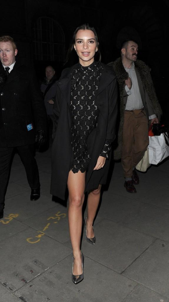 Emily Ratajkowski à Londres le 23 février 2015